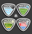set of sport logos vector image