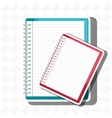 spiral notebook isolated icon design vector image