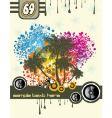 Tropical music disco flyer vector image