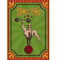 vintage retro poster of a strongman in a circus vector image