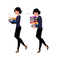 young businesswoman carrying document folders vector image
