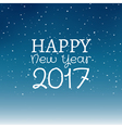 Happy New Year 2017 christmas decoration design vector image