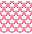 white cats on pink background with dots vector image vector image