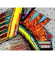 original of abstract art digital painting vector image