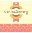 Confectionery logo and background vector image