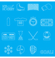 ice hockey sport outline icons set eps10 vector image