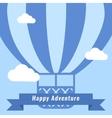 Retro Hot Air Balloon Background vector image