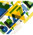Background with Brazil in abstract geometric style vector image