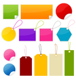 colorful tags and stickers vector image vector image