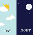 Day and night concept vector image