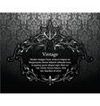 vintage silver floral frame vector image vector image