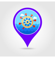 Helm pin map icon Summer Marine vector image