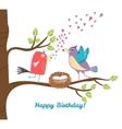 Birthday postcard vector image