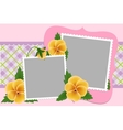 Blank template for photo frame vector image