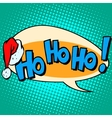 hohoho Santa Claus good laugh comic bubble text vector image