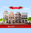 old european houses poster vector image
