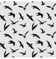 seamless pattern with flying birds vector image