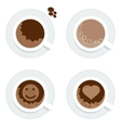 set cup of coffe vector image vector image