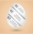 abstract 3d digital infographic egg vector image