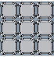 seamless frame pipes vector image