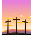 three crosses on the Calvary vector image vector image