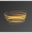 Lights effect Glow circle line Shiny elements vector image