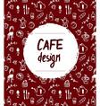Cafe menu design in retro sketch style vector image
