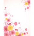 Floral background with pink flowers vector image