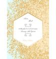 glitter wedding invitation vector image