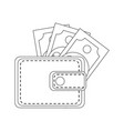 leather wallet for man vector image