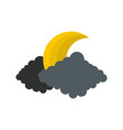 moon icon flat style vector image