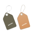 Natural tags vector image