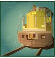 retro locomotive vector image