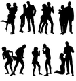 silhouettes of couple Life steps vector image