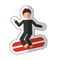 surf boarding extreme sport vector image