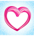 Valentines background abstract pink heart shape vector image vector image