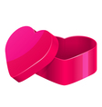 pink heart box vector image vector image