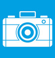 photo camera icon white vector image