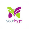 butterfly colored beauty logo vector image