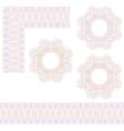 Guilloche rosette and borders vector image