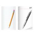 pencil pen sheet vector image