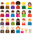 Various People Symbol Icons Family Set vector image