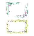 watercolor frame in different styles vector image
