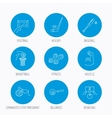 Football ice hockey and fitness sport icons vector image
