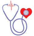 Stethoscope and heart vector image vector image