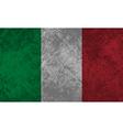 Italian Flag Grunge vector image vector image