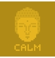 Calm pixel buddha vector image