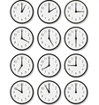 clock faces vector image