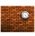 clock symbol on brick wall vector image