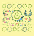 floral wreath decoration badge vector image